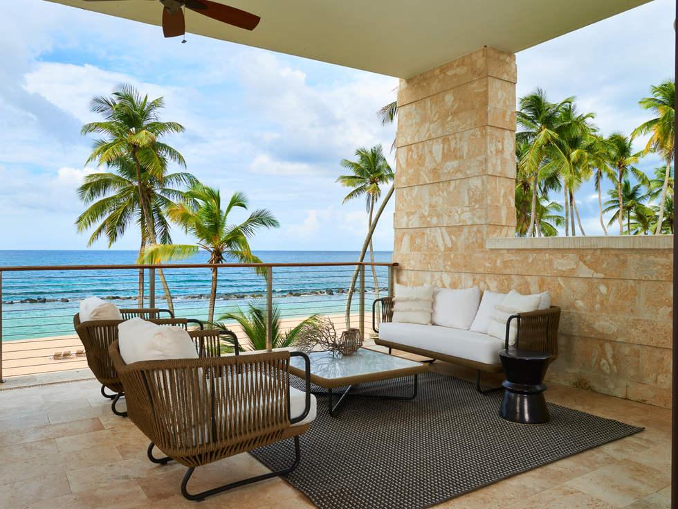 Beachside porch Dorado Beach