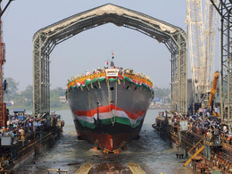 Indian Navy's 2nd Project 17A Ship 'HIMGIRI' launched by GRSE