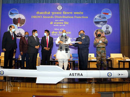Raksha Mantri Shri Rajnath Singh hands over DRDO systems to Indian Armed Forces Chiefs