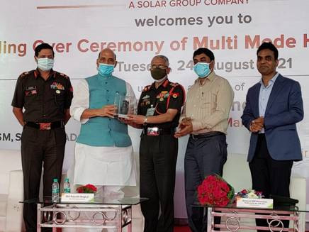 First batch of Multi-Mode Hand Grenades handed over to Indian Army