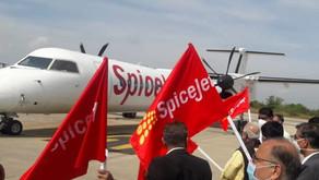 Hyderabad – Nashik SpiceJet flight flagged off under UDAN