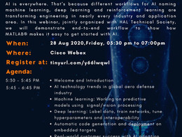 """Mathworks® and HAL Technical Society jointly organising webinar on """"AI in Aero Defense Industry"""""""