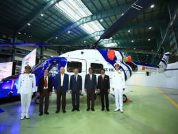 Defence Secretary Inducts HAL Manufactured ALH Mk-III Helicopters Into Indian Coast Guard