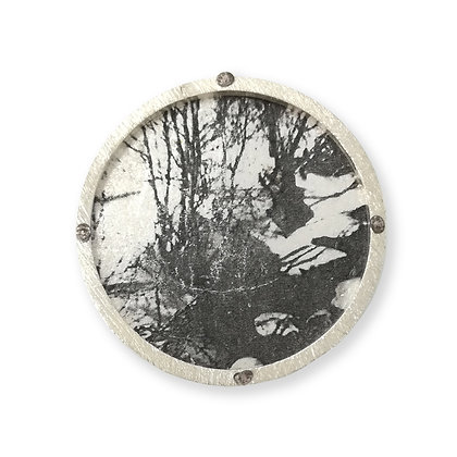"Pin's "" Foret neige """
