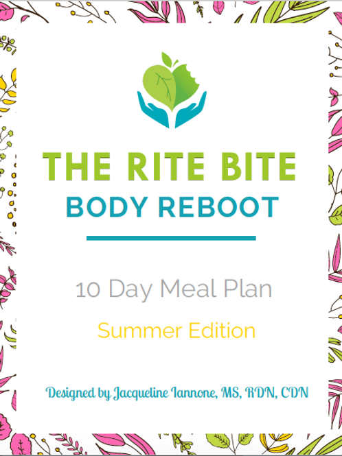 THE RITE BITE BODY REBOOT 10 DAY MEAL PLAN