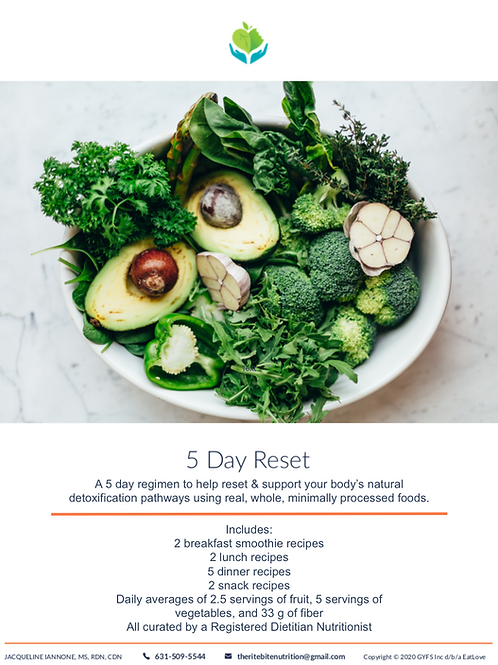 5 DAY RESET - DETOXIFICATION SUPPORT