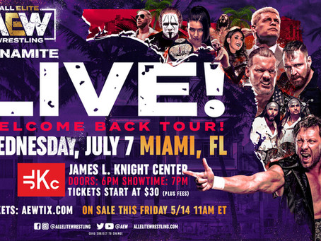 AEW Dynamite Is Back On The Road With Live Ticketed Events In Miami, Austin, & Dallas