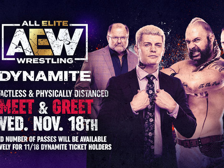 AEW Contactless & Physically Distanced Meet and Greet Information for November 18th