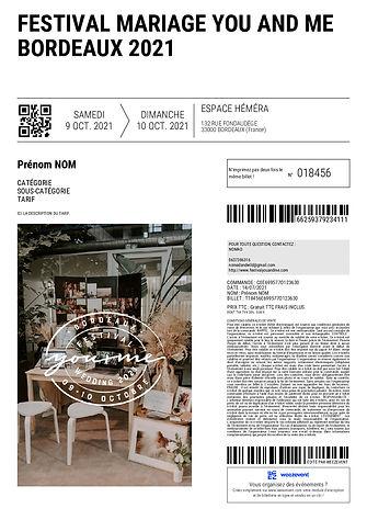Billetterie - Festival Mariage You and Me - 9+10 Octobre 2021 - Bordeaux