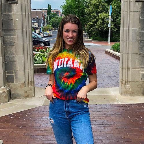 Bright Rainbow Tie Dye T-Shirt