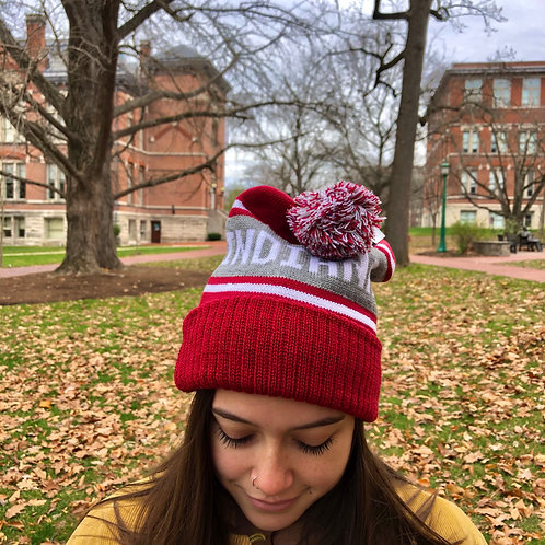 Indiana Hoosiers Winter Hat with Pom-Pom