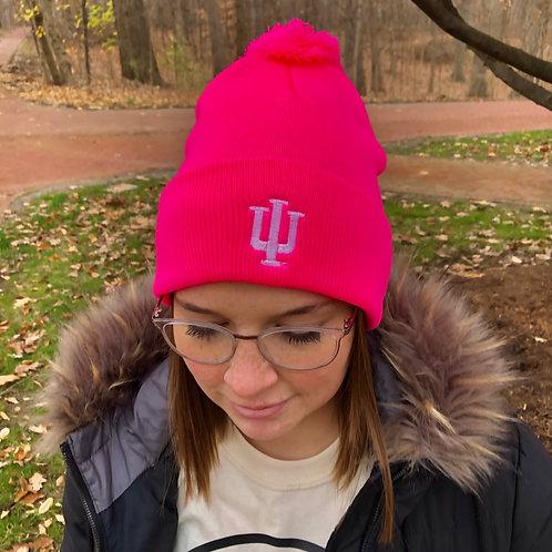 Indiana Trident Winter Hat with Pom-pom