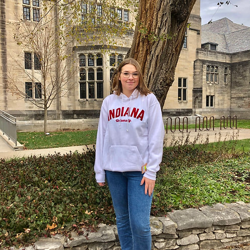 Embroidered Indiana University Hoodie