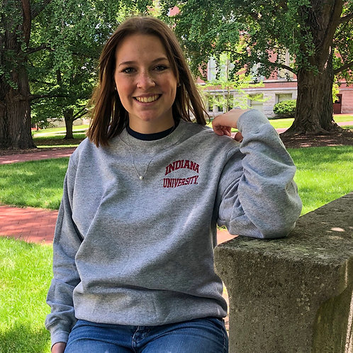 Embroidered Indiana University Crewneck