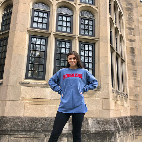 Embroidered Hoosiers Long Sleeve T-Shirt