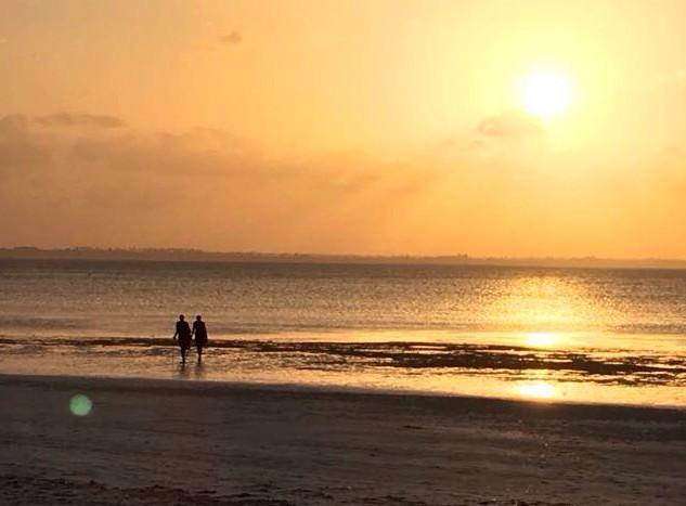 Sonnenuntergang am Sunsetbeach