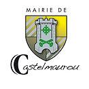 Logo de la mairie de Castelmaurou, écusson jaune et gris avec tour