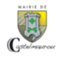 Logo de la mairie de Castelmaurou, écusson jaune avec tour