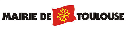 Logo de la mairie de Toulouse, drapeau avec croix occitane dorée sur fond rouge