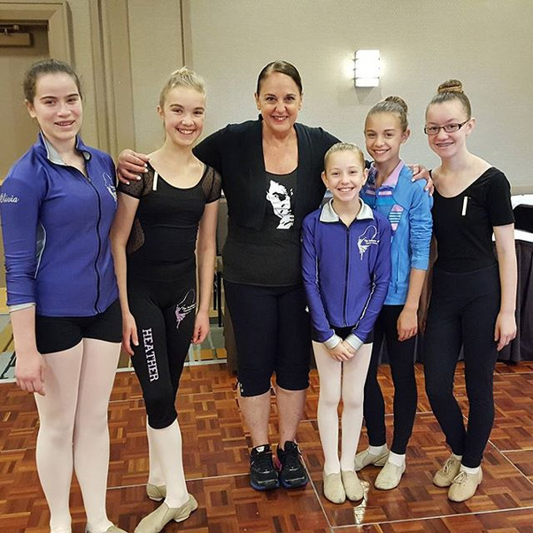 The girls after jazz class with Nan Gior