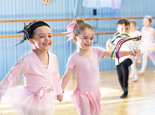 little dancers having fun in dance class