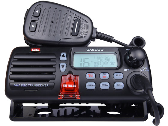 GX600D VHF Marine Radio with DSC - Black