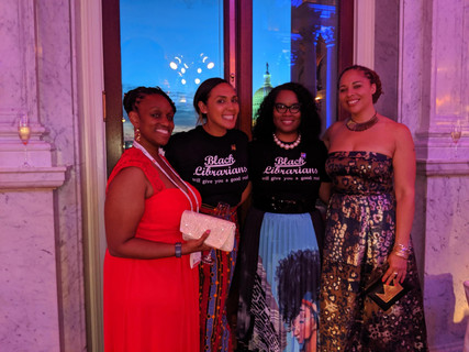 Librarian Cousins at 50th Anniversary Coretta Scott King Gala at the Library of Congress