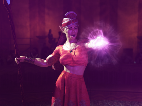 Grelda the circus performing witch