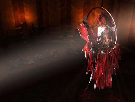 Ruinë the Flame, aerialist cleric
