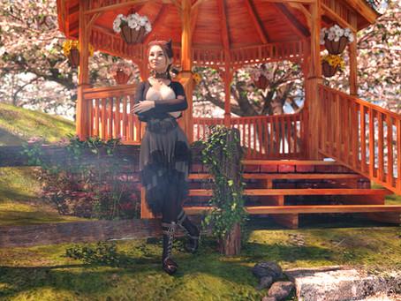 Chrysa at the gazebo