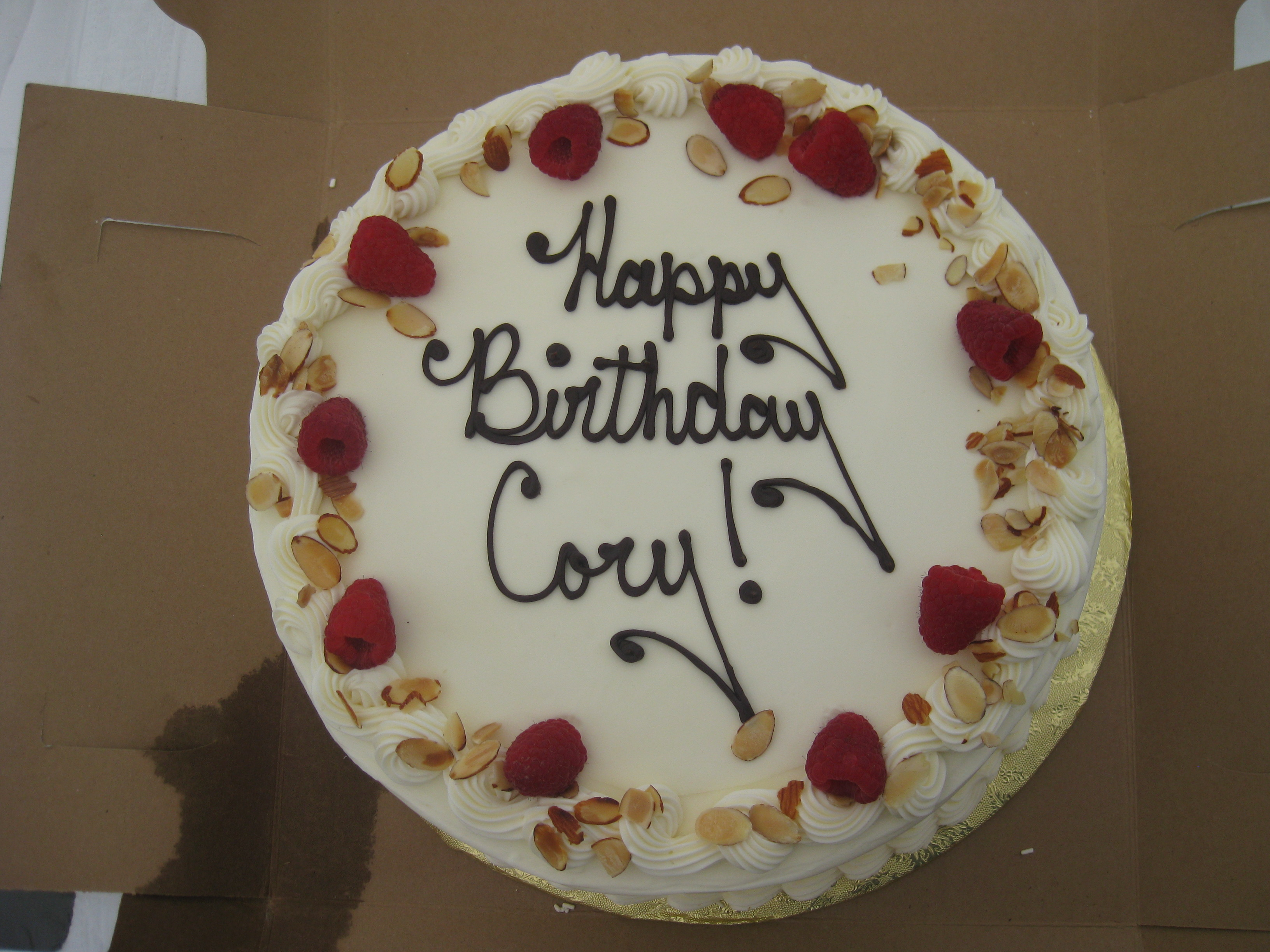 Food - Cory's birthday cake