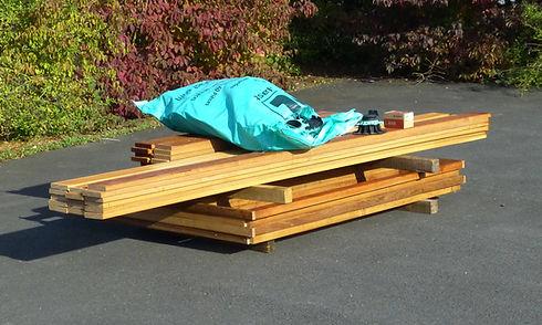 Kit de terrasse complet en bois exotique Bangkiraï