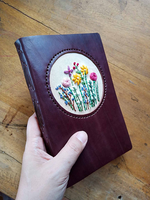 Hand-Embroidered Floral Journal #5