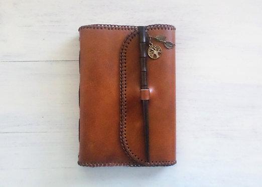 Regular Leather Journal with Chopstick Lock