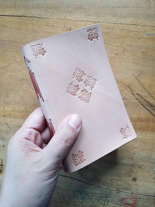 Vegetable-Tanned Floral Hand-Embossed Pocket Journal #7