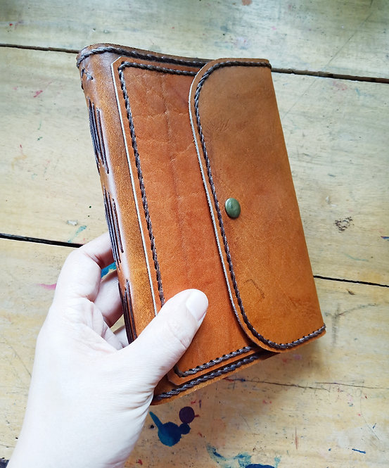 Regular Leather Journal with Front Pocket