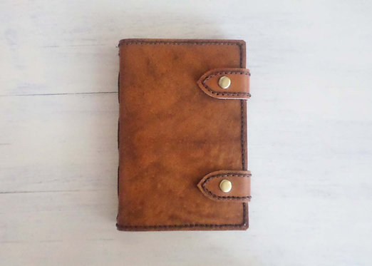 Regular Leather Journal with Double Snap Buttons