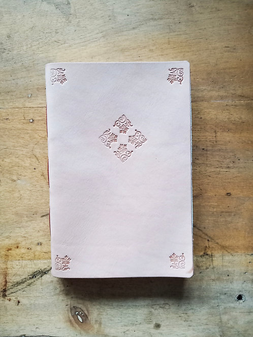 Vegetable-Tanned Floral Hand-Embossed Regular Journal #6