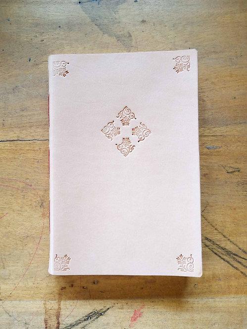 Vegetable-Tanned Floral Hand-Embossed Regular Journal #1