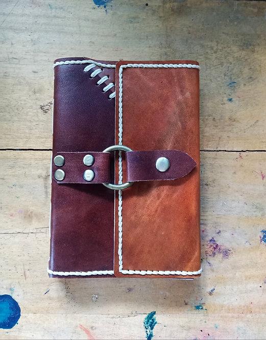 Patchwork Regular Leather Journal w/ Ring Lock #1