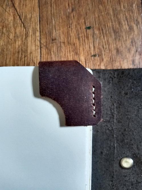 Corner Bookmark - Distressed Brown