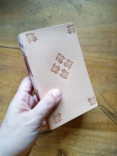 Vegetable-Tanned Floral Hand-Embossed Pocket Journal #4