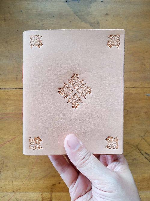 Vegetable-Tanned Floral Hand-Embossed Pocket Journal #2