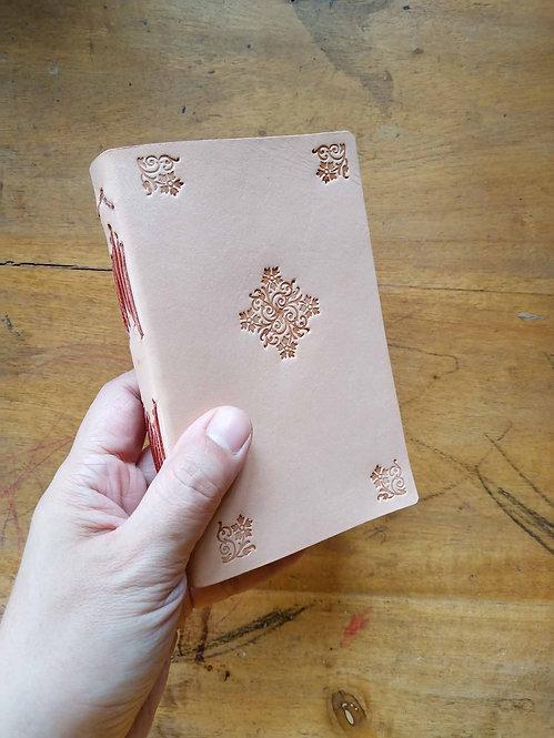 Vegetable-Tanned Floral Hand-Embossed Pocket Journal #1
