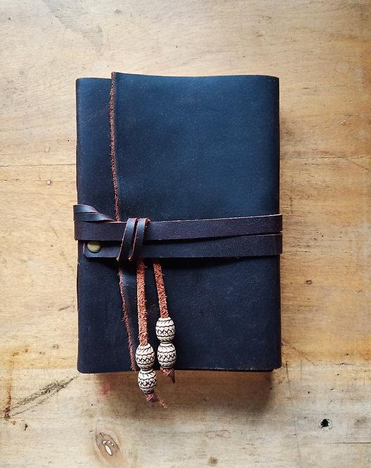 Extra Thick Leather Journal w/ Wraparound Strap