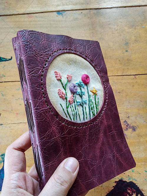 Hand-Embroidered Floral Journal #2