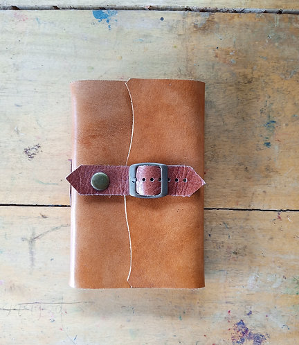 Small Leather Journal with Single Belt Lock
