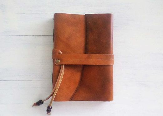 Regular Leather Journal with Wraparound Strap