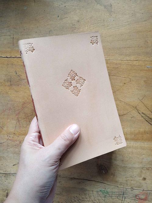 Vegetable-Tanned Floral Hand-Embossed Regular Journal #3
