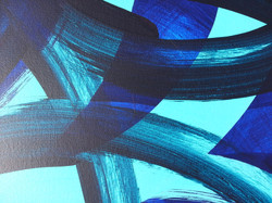 Blue mix interdependence painting by Abstract Expressionist artist Adele Cloony